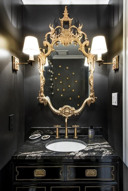 Statement Powder Rooms 50 Inspirations Interior Much